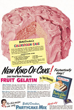 A 1952 Advertisement for Colorvision Cake (Courtesy of Betty Crocker/General Mills)