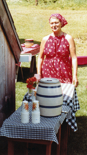 "Florette hosts an informal ""do"" in 1981; she loved red bandanas. (Courtesy of Ena Haines)"