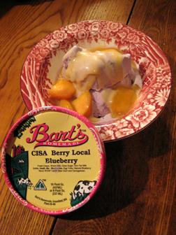 Seasonal Heaven: CISA Berry Local Blueberry Ice Cream (with a few peaches!)