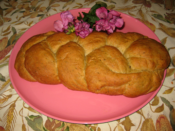 My roses have gone by so I had to serve Bread and Roses of Sharon!