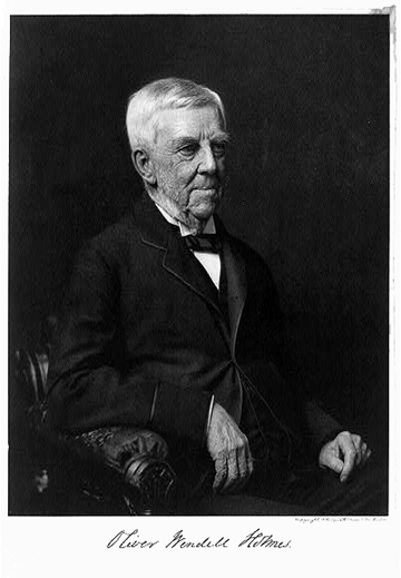 Oliver Wendell Holmes (Courtesy of the Library of Congress)