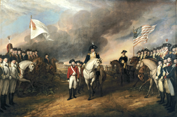 The Surrender of Cornwallis by John Trumbull (Architect of the Capitol)