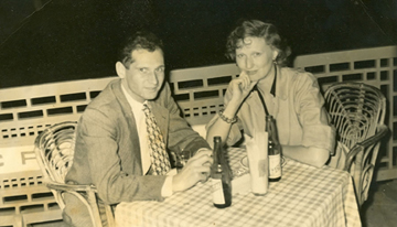 Dagny Johnson in Cuba in 1950 with a mysterious stranger (Courtesy of Eric Johnson)