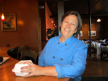 Chef Deborah Snow, who created this brittle, loves her restaurant home, the warm and colorful Blue Heron.