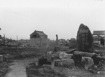 My father took this photo of bomb damage in Nogoya in February 1947.